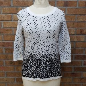 Ann Taylor*black&white*medium*sweater